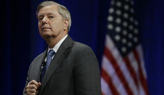 Sen. Lindsey Graham went so far as to apologize to the world for Mr. Trump's comments, saying he's giving fuel to the Islamic State terrorist movement. (Associated Press)
