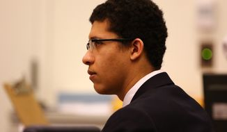 Philip Chism was 14 when he followed his algebra teacher, Colleen Ritzer, into a school bathroom, strangled her, stabbed her at least 16 times and raped her. (Associated Press)