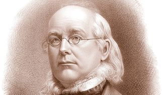 Engraving of Horace Greeley by J.E. Baker, Boston, 1872