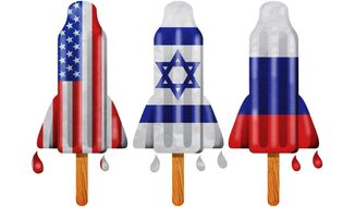 Cold War Bomb Pops Illustration by Greg Groesch/The Washington Times