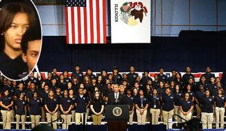 President Obama speaks to youth in Chicago about gun violence. (Associated Press)