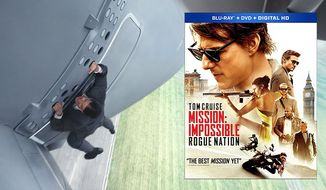 "Tom Cruise stars in ""Mission Impossible: Rogue Nation,"" now available on Blu-ray from Paramount Home Entertainment."