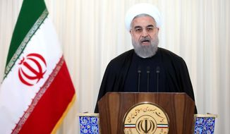 The sanctions have badly battered Iran's economy and President Hassan Rouhani, whom some credit with spearheading Iran's thaw in relations with the West. (Associated Press)