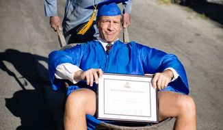 "CNN host Mike Rowe has written a lengthy rebuke of a recent tweet by Democratic presidential candidate Bernie Sanders, calling him a ""knucklehead"" for suggesting people who don't go to college will likely wind up in jail. (Facebook/@Mike Rowe)"
