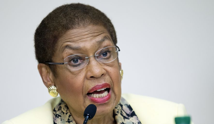 Delegate Eleanor Holmes Norton, the District's nonvoting congressional representative, said she had no confirmation of the language of a rider and that Democrats assured her Tuesday afternoon that negotiations were continuing on the matter. (Associated Press)