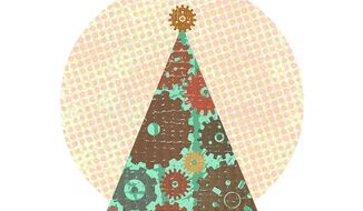 Working Gears for Christmas Illustration by Greg Groesch/The Washington Times