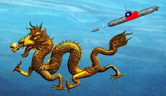 Taiwan Defense Illustration by Greg Groesch/The Washington Times