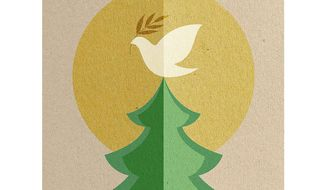 Christmas Card of Peace Illustration by Greg Groesch/The Washington Times