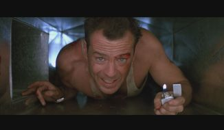 "Bruce Willis in a scene from ""Die Hard.""  (originalprop.com)"