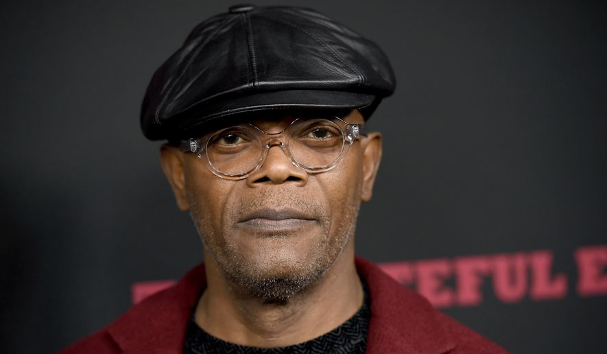 """Samuel L. Jackson arrives at the Los Angeles premiere of """"The Hateful Eight"""" at the Cinerama Dome on Monday, Dec. 7, 2015. (Photo by Chris Pizzello/Invision/AP) ** FILE **"""
