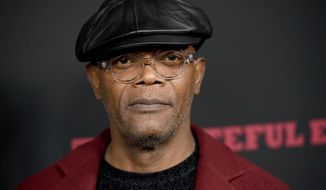 "Samuel L. Jackson arrives at the Los Angeles premiere of ""The Hateful Eight"" at the Cinerama Dome on Monday, Dec. 7, 2015. (Photo by Chris Pizzello/Invision/AP)"