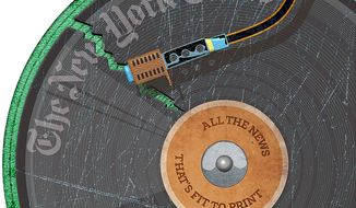 The Broken Record that is The New York Times Illustration by Greg Groesch/The Washington Times