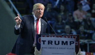 Republican presidential candidate Donald Trump speaks during a rally in Biloxi, Miss., Saturday, Jan. 2, 2016. (AP Photo/Rogelio V. Solis)