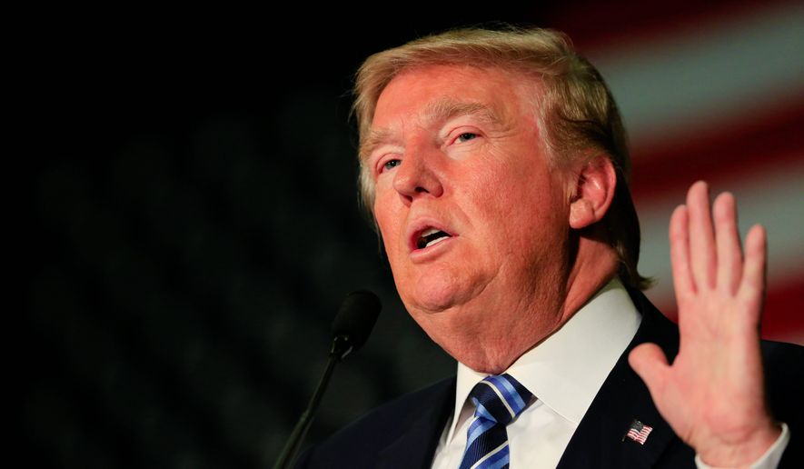 Republican presidential candidate Donald Trump said he was advertising on TV, spending at least $2 million per week, to play it safe. Still, he insisted he was confident about his position in the race and his huge level of support. (Associated Press)