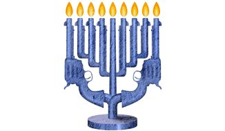 Second Amendment Menorah Illustration by Greg Groesch/The Washington Times