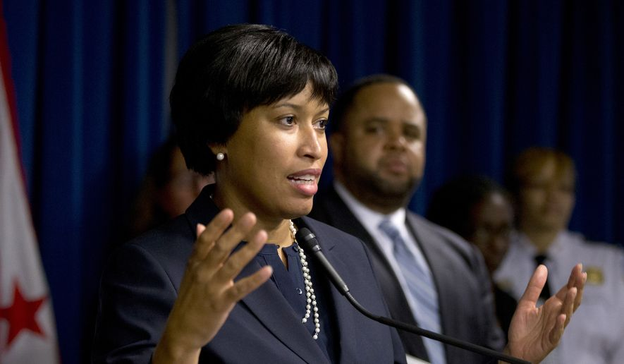D.C. Mayor Muriel Bowser speaks during a news conference in Washington on Dec. 15, 2015. (Associated Press) **FILE**