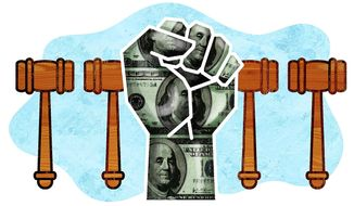 Public Sector Unions Under Court Scrutiny Illustration by Greg Groesch/The Washington Times