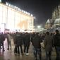 """People are gathered at the Cologne, Germany, main station, in this Dec. 31, 2015, file photo. German police said Wednesday Jan. 6, 2016 that they are investigating whether a string of sexual assaults and thefts at New Year is linked to a known criminal network. The assaults in Cologne last week have prompted outrage in Germany and a fresh debate about immigration, after police said the perpetrators appeared to be of """"Arab or North African origin."""" (Markus Boehm/dpa via AP)"""