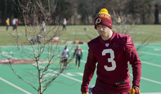 Washington Redskins kicker Dustin Hopkins was able to produce almost three times as many touchbacks as his predecessor.  (AP Photo/Manuel Balce Ceneta)