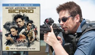 """Benicio del Toro co-star in """"Sicario,"""" now available on Blu-ray from Lionsgate Home Entertainment."""