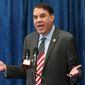 Florida congressman Alan Grayson speaks during a pre-legislative news conference in Tallahassee, Fla, on Oct. 14, 2015. (Associated Press) **FILE**