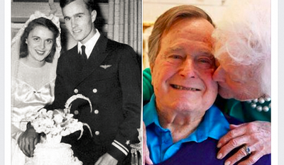George and Barbara Bush celebrated their 71st wedding anniversary this week.
