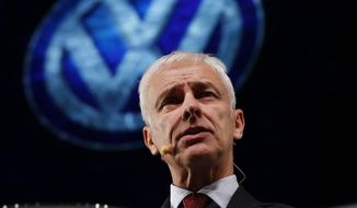 Volkswagen CEO Matthias Mueller said that as of now VW has only given technical data to the Environmental Protection Agency and the California Air Resources Board. But he hopes to reach agreement with EPA Administrator Gina McCarthy Wednesday in Washington when he presents her with solutions. VW requested the meeting. (Associated Press)