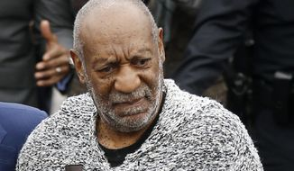 Bill Cosby arrives at court to face a felony charge of aggravated indecent assault Dec. 30, 2015, in Elkins Park, Pa. (Associated Press)