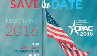 The countdown is underway for CPAC, which begins exactly seven weeks from Wednesday. (American Conservative Union)
