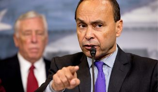 Rep. Luis V. Gutierrez, Illinois Democrat, said he and most of the other 145 lawmakers who signed the letter denouncing the deportation raids were among President Obama's staunchest backers, having defended Obamacare over the past five years and upheld his Iran nuclear deal in a major test vote last year. (Associated Press)