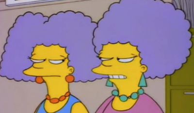 Name Marge Simpson's older twin sisters: