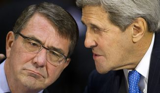 Secretary of State John F. Kerry learned of the incident shortly after noon as he and Defense Secretary Ashton Carter were meeting with their Filipino counterparts at the State Department. (Associated Press)