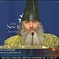 'Lesser-known' presidential hopeful Vermin Supreme is shown during a 2011 forum for other alternative candidates at the New Hampshire Institute of Politics, which was carried by C-SPAN. This year's forum takes place January 19. (Screen shot from C-SPAN)