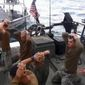 U.S. sailors in the custody of Iranian naval forces. (Associated Press) ** FILE **