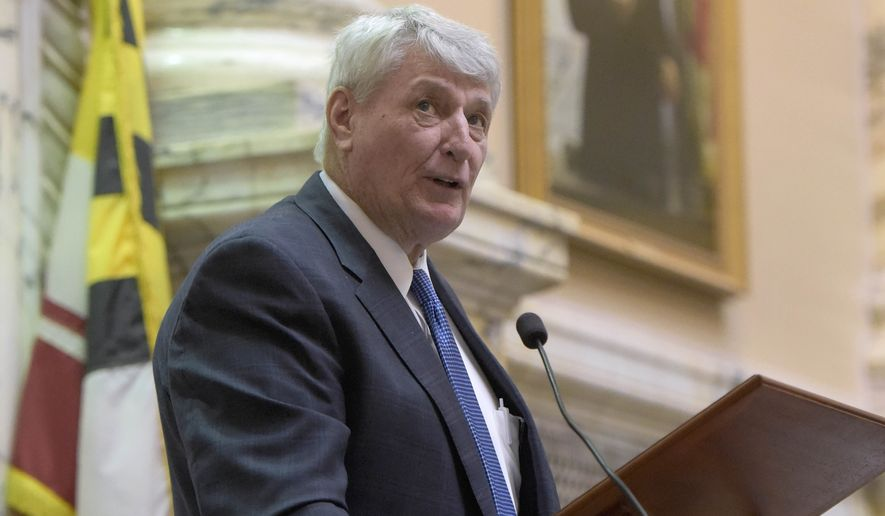 Maryland House Speaker Michael E. Busch addresses lawmakers before the start of their annual 90-day legislative session. He said college affordability is on the Democratic agenda. (Associated Press)