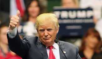 Republican presidential candidate Donald Trump speaks during a campaign rally at the Pensacola Bay Center in Pensacola, Fla., Wednesday, Jan. 13, 2016. (AP Photo/Michael Snyder)