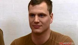 Lt. David Nartker, 27, one of 10 U.S. sailors captured by Iran, is shown in a video apologizing to Iran after a U.S. Navy vessel drifted into Iranian waters.  (Image: IRIB)