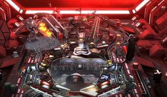 "Star Wars Pinball pack from Zen Studios features Captain Phasma and Stormtroopers on the ""Might of The First Order"" table."