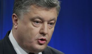 Ukrainian President Petro Poroshenko (Associated Press/File)