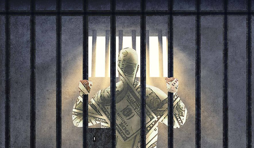 Prisoner Costs and Justice Reform Illustration by Greg Groesch/The Washington Times