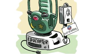 "The ""Educopter,"" Training Device of a Broken Education System Illustration by Alex Hunter/The Washington Times"
