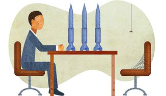 Absent from Negotiating Table Illustration by Greg Groesch/The Washington Times