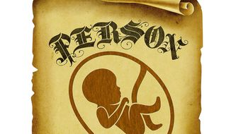 The Fetus as an Official Person Illustration by Greg Groesch/The Washington Times