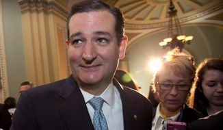 Despite Republican colleagues in the Senate decrying fellow presidential candidate Donald Trump's unkind debate remarks, Sen. Ted Cruz has yet to get the official backing of any GOP Senators for his 2016 White House bid. (Associated Press)