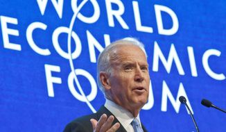 "At the World Economic Forum in Davos, Switzerland on Wednesday, Vice President Joseph R. Biden slammed the abuse of gay rights abroad, saying ""Culture never justifies rank, raw, discrimination or violation of human rights."" (Associated Press)"