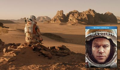 """Mark Watney (Matt Damon) looks over the famed red planet in """"The Martian,"""" now available on Blu-ray from 20th Century Fox Home Entertainment."""