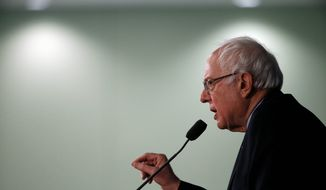 Analysts say that Democratic presidential candidate Sen. Bernie Sanders' recent surge in polls is a result of his likability, and not a leftward tilt in voter opinions. (Associated Press)