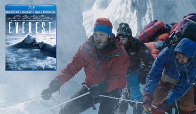 "Rob Hall (Jason Clarke) leads climbers up ""Everest,"" now available on Blu-ray from Universal Studios Home Entertainment."