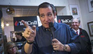 Republican presidential candidate, Sen. Ted Cruz, R-Texas, speaks during a campaign stop at the Freedom Country Store in Freedom, N.H., in this Jan. 19, 2016, file photo. (AP Photo/John Minchillo)