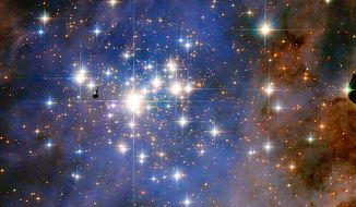 A stunning new image from the Hubbell Space Telescope shows the Trumpler 14 star cluster, home to the brightest stars in the galaxy. (NASA/ESA, Jesus Maiz Apellaniz)